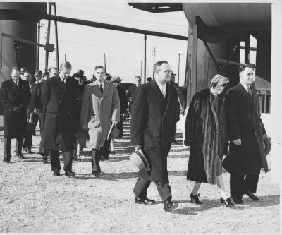 Princess Elizabeth & Prince Philip visit the Sydney Steel Plant, 1951. Cape Breton Centre for Heritage & Science collection, Sydney.