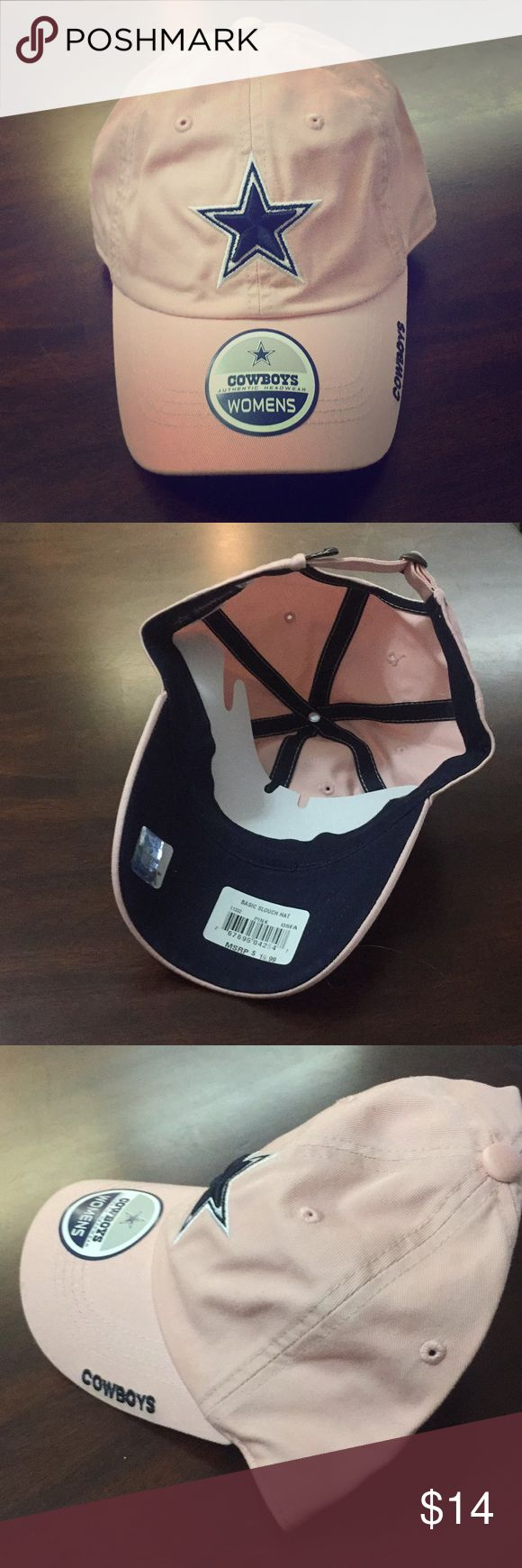 Dallas Cowboys Hat Pink and Brand New! Perfect for any Cowboys fan. Received as a promotional gift, has never been worn. With stickers! Accessories Hats