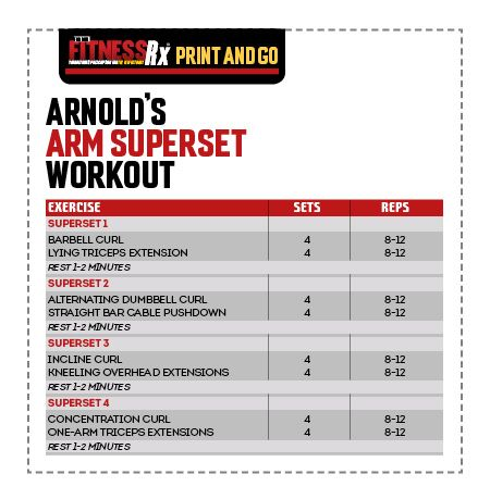 12 best Superset images on Pinterest Exercise routines, Chest - new arnold blueprint ebook
