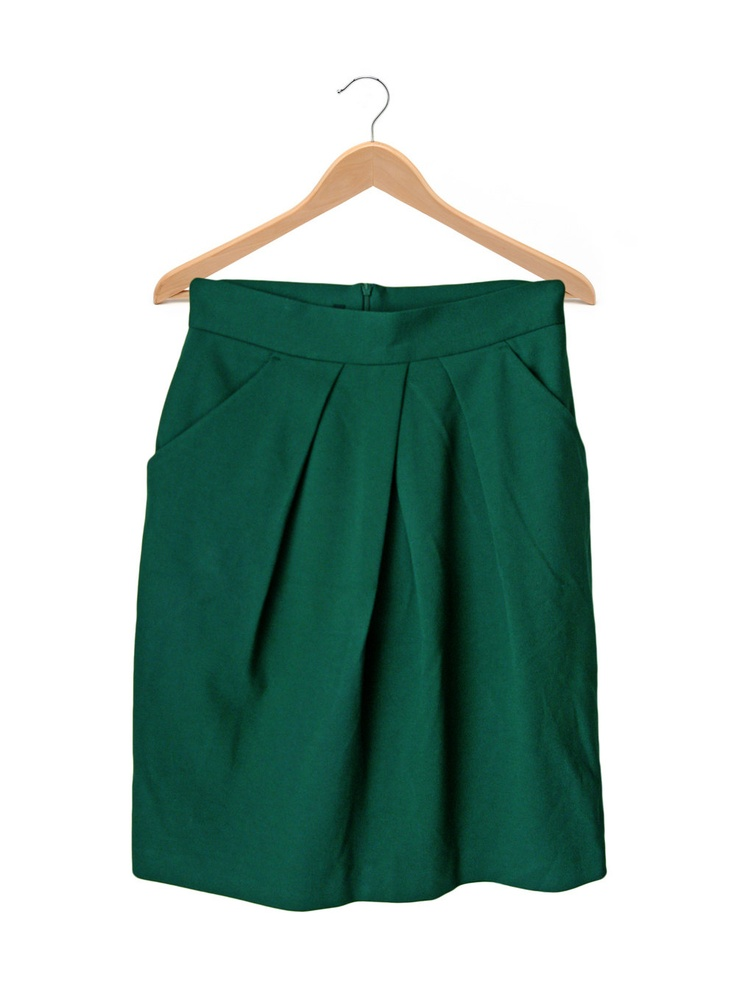 Emerald Green Tulip Skirt - with back zip closure. $40,00, via Etsy.
