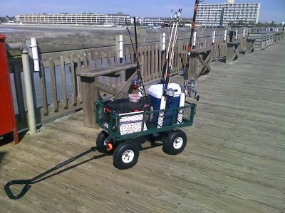 Check out how our Northern Tool customer uses this heavy-duty steel cart, as a Pier fishing wagon! Useful + convenient