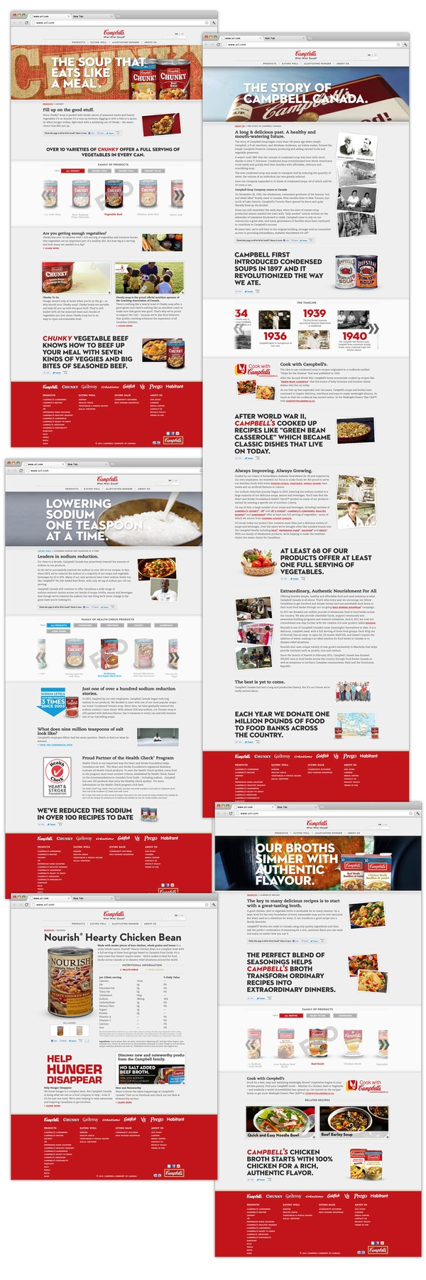 Campbell's Corporate Website Redesign by Stuart Thursby, via Behance