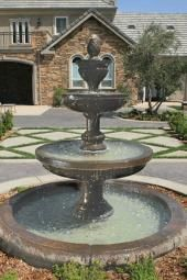 Mediterranean Fountain with Old European Basin