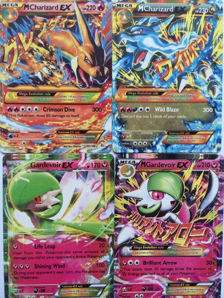 POKEMON CARDS 2 MEGA CARDS+41 EX CARDS+One Free Mega or Ex Flash