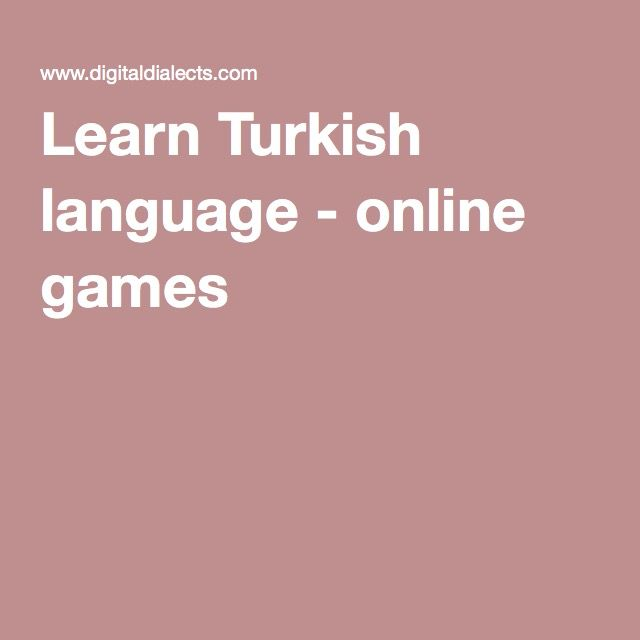 Learn Turkish language - online games