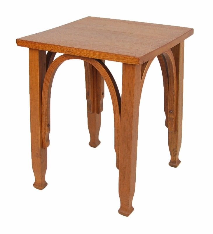 Arts and Crafts Era Oak End Table $165 - Niles http://furnishly.com/catalog/product/view/id/2249/s/arts-crafts-era-oak-end-table/