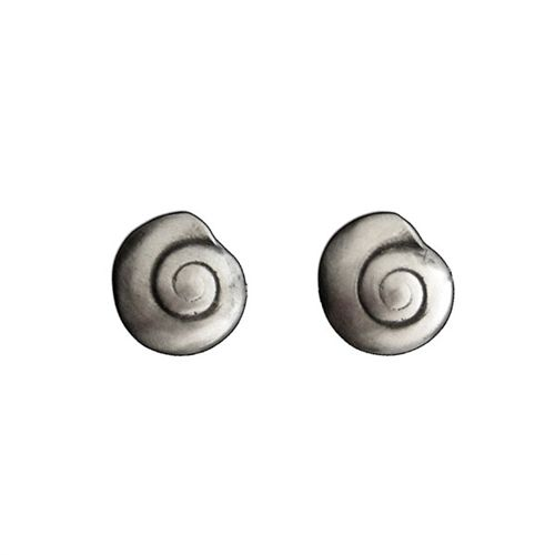 Spiral Shell Post Earrings, created from the impressions of real shells.