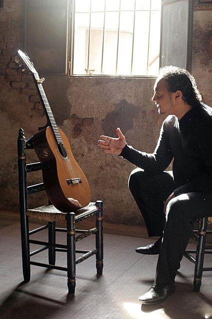 Paco Fernandez and his flamenco guitar