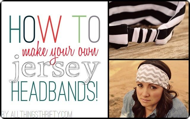 How to make jersey headbands for women