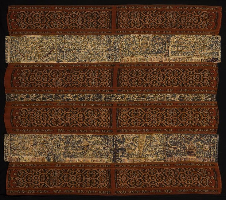 Paminggir people Indonesia, South Sumatra, Lampung area Woman's Ceremonial Skirt (tapis), 18th century (?)