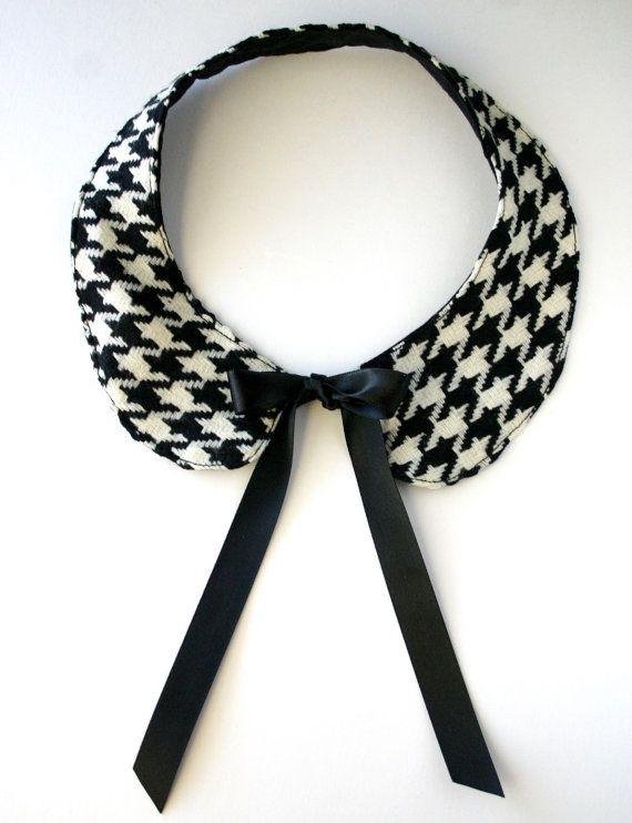 Houndstooth - The Alexa - Peter Pan Collar Necklace from Etsy Shop lovesexton ($18.60)