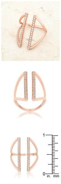 Jena Rose Gold Delicate Parallel Ring. #rosegold #ring