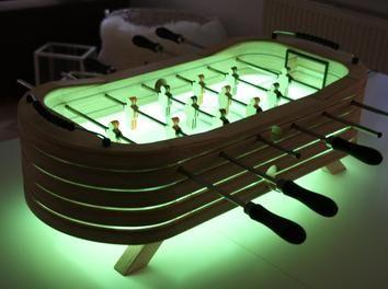 Tischkicker mit LED Beleuchtung