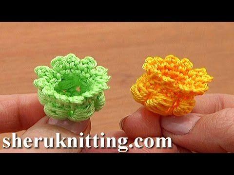 Crochet Layered Long Petal Flower Tutorial 11 Tığ İle Çiçek Motifli Bebek Battaniye - YouTube
