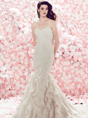 Simple  Bridal Dresses Alfred Angelo In Stock Bridesmaid Dress Style Alfred Angelo Bridesmaid Dresses Spring Chiffon Floor Length Dress shown in Rum Pink