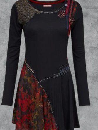 modetalente kleider damen retro laessig multifarben