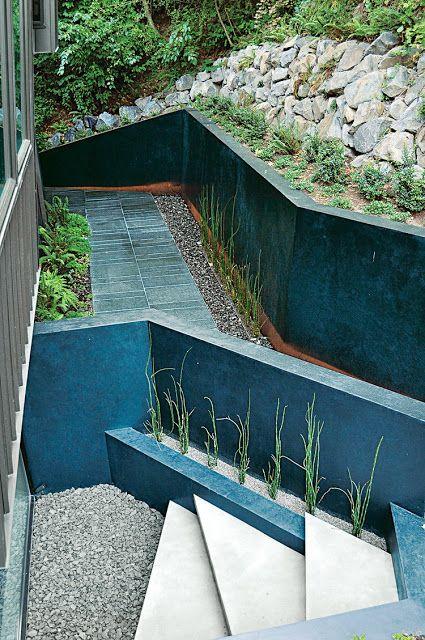 Decorar Jardim - Paisagismo moderno com pedras ~ Decoração e Ideias - casa e jardim