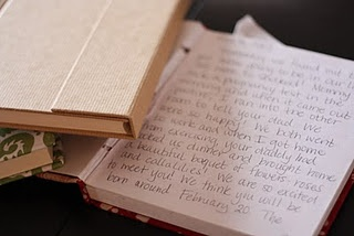Instead of giving your child birthday cards (which inevitably get lost), write your heartfelt sentiments for special occasions (birthdays, starting school, etc) in a journal...which will be a keepsake when they're grown!awwwwww