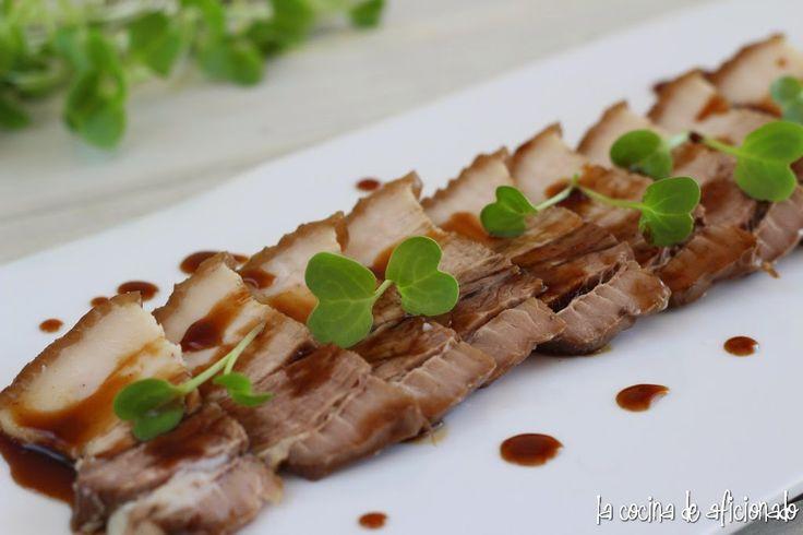 la cocina de aficionado: Panceta con toque asiático
