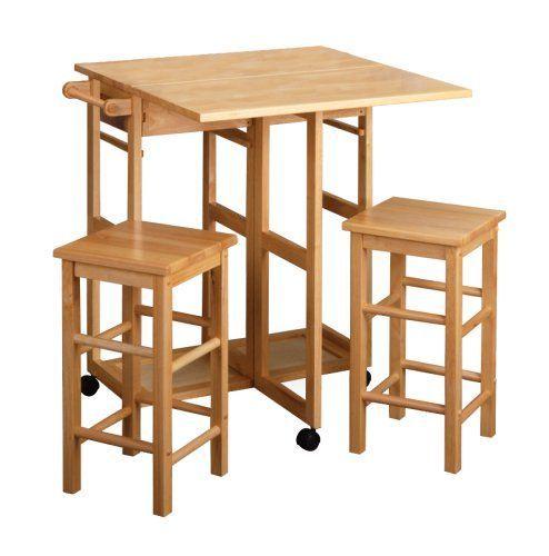 Обаятельный Вуд Таблица падения листьев площади стул, природных Это Завтрак бар набор идеально подходит для небольших столовой.  В комплект входят стол с выпадающего листа и двух стульев.  Построенный из Бука, натурального цвета Доступные в круглых и квадратных Список Цена: $ 224.99 Цена: $ 105.98 Вы экономите: $ 119.01 (53%):