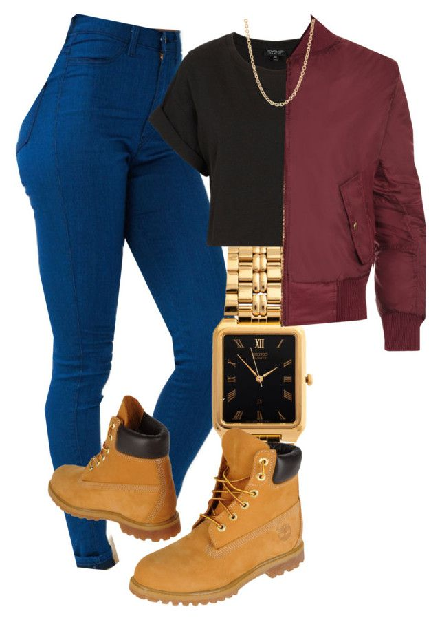 """fall"" by livingfaded ❤ liked on Polyvore featuring American Apparel, Timberland, Topshop, WearAll and Mark Davis"