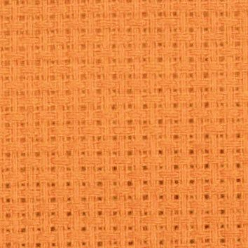 Bright orange AIDA 14 Count Fabric. Permin aida. Orange embroidery cotton. Made in Denmark. quality cross stitch fabric per meter by Studio Koekoek