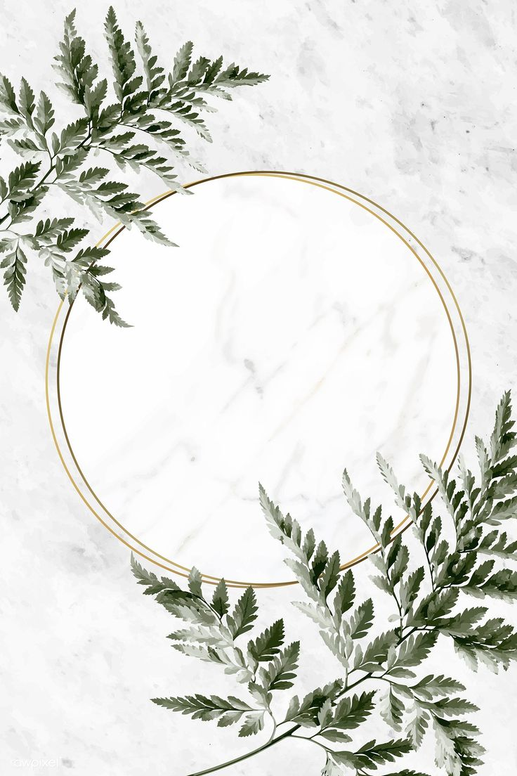 Download premium vector of Round golden frame on a marble background