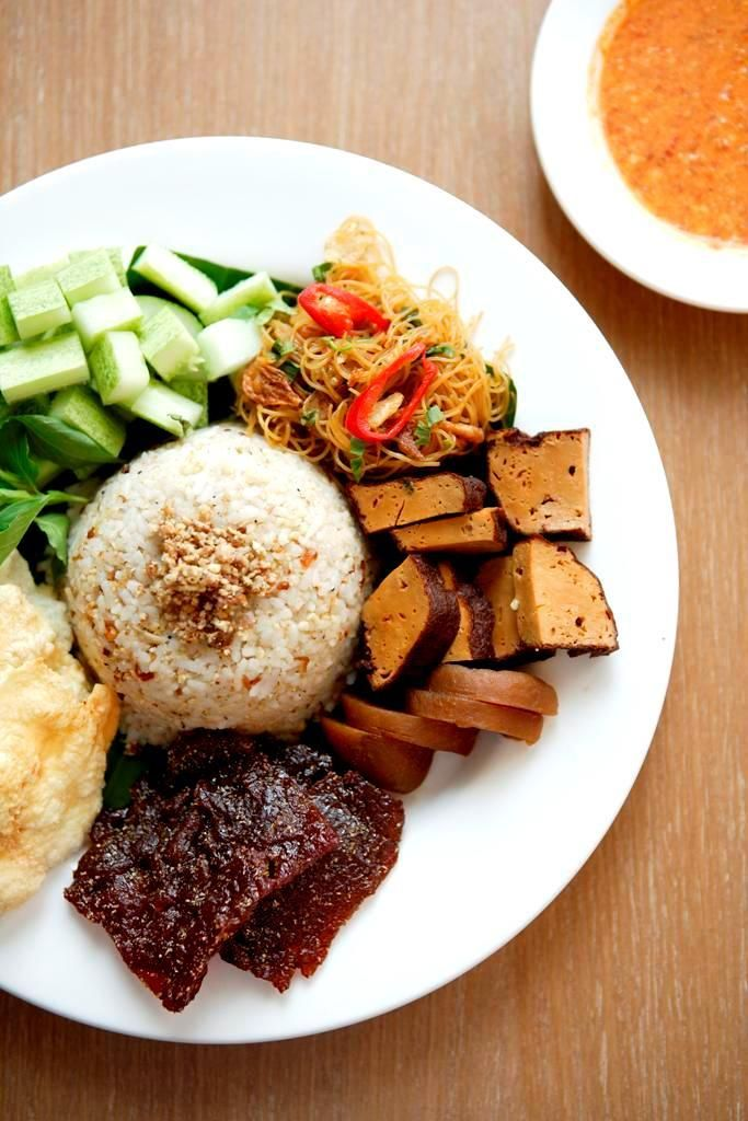 Try this for lunch today! Nasi Ulam Komplit at #KafeBetawi