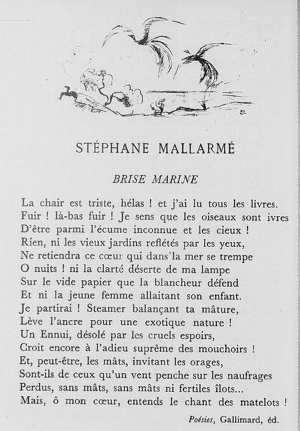 """""""Brise Marine"""" di Stèphane Mallarmè."""