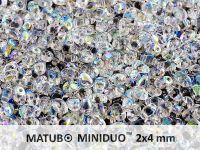 miniDUO 2x4mm Crystal AB - 5 g