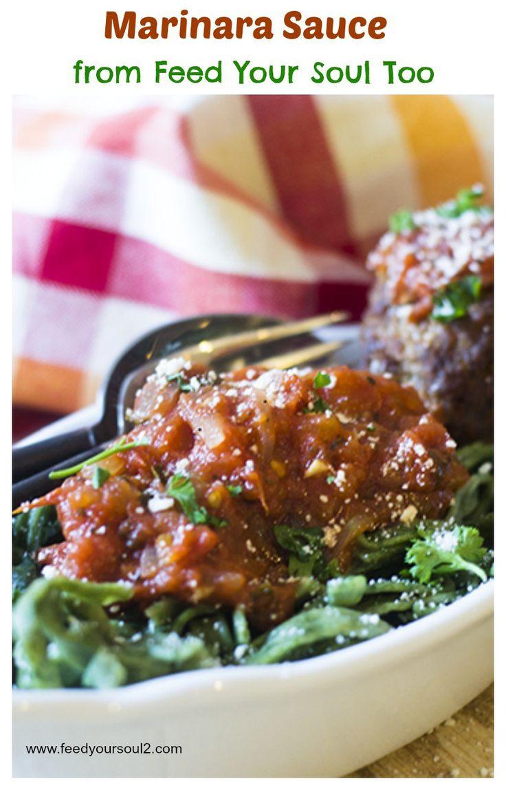 Marinara Sauce from Feed Your Soul Too - homemade chunky marinara sauce.