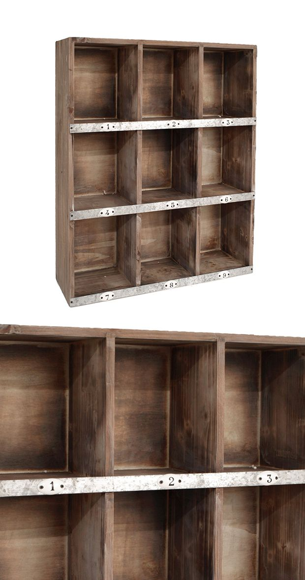 With nine uniform natural wood shelves, the Cubed Cubby Wall Shelf is the perfect place for housing your mail, books, or a selection of copper trinkets. With such a simple aesthetic, there are endless ...  Find the Cubed Cubby Wall Shelf, as seen in the Valentine's Day Gifts for Him Collection at http://dotandbo.com/collections/valentines-day-gifts-for-him-2016?utm_source=pinterest&utm_medium=organic&db_sku=95025