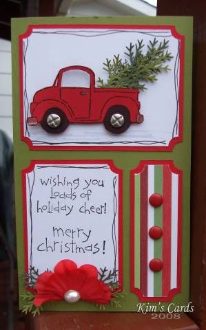 This is the last card for the day.  This one is bigger than I usually make.  It measures 4 inches wide and 6 3/4 inches high. Thanks for looking!