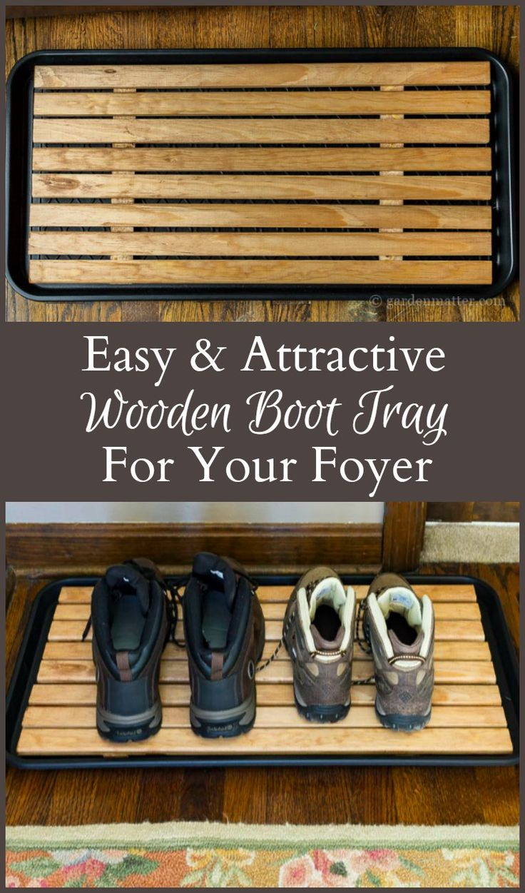 Learn how to make a wooden boot tray that is attractive enough for your foyer. This pretty piece of decor is simple to make, and very useful in the home.