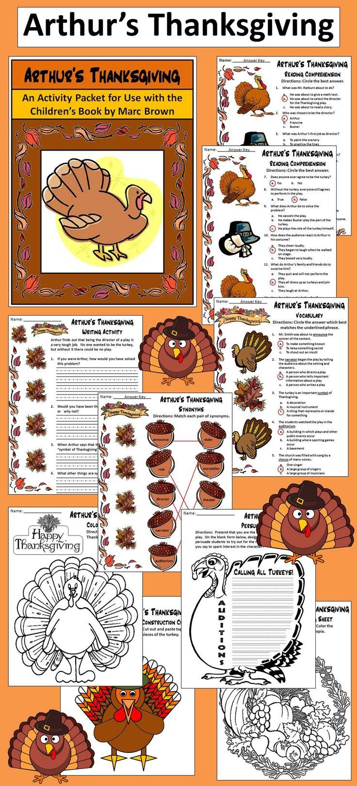 arthur thanksgiving coloring pages - photo#35
