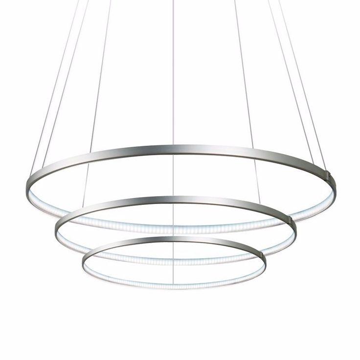 Luminaria LED en forma de anillo triple