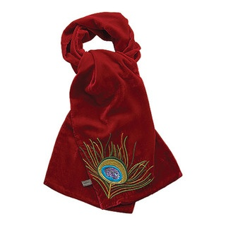 This season's must have winter accessory, is our divine, luxuriously warm silk/viscose Peacock velvet wrap.