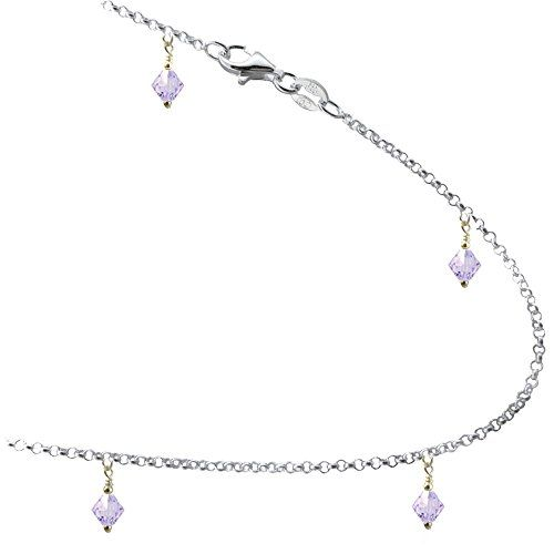 anklet on wanelo white gold bracelet chain solid cut bracelets shop rope inch diamond