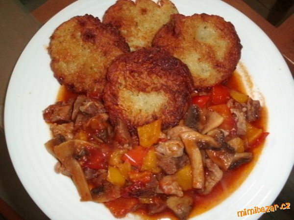 Masová směs s bramboráčky nebo hranolky-podle Andrejky