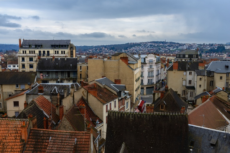 The rooftops of Montluçon.