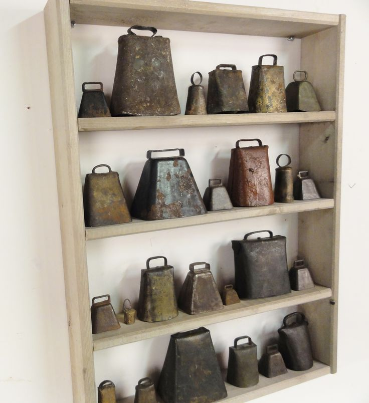 antique cowbells from lostfoundart.com Would love to have a collection!