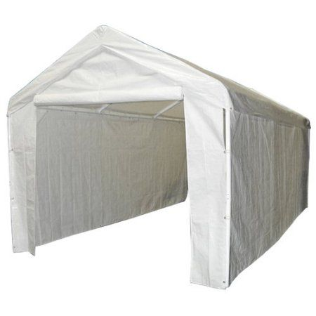 Caravan Canopy Sports 10 X20 Domain Carport Garage Sidewall Enclosure Kit Frame And Top Not Included White Products Carport Garage Canopy Outdoor Gar