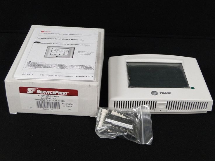 Trane Programable Touchscreen Themostat Controller Home Central AC Heat THT02775 #Trane #AC Wall #thermostat #controller   0205