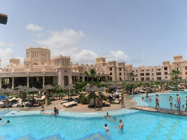 Sandcastle like hotel and pool, Cape Verde