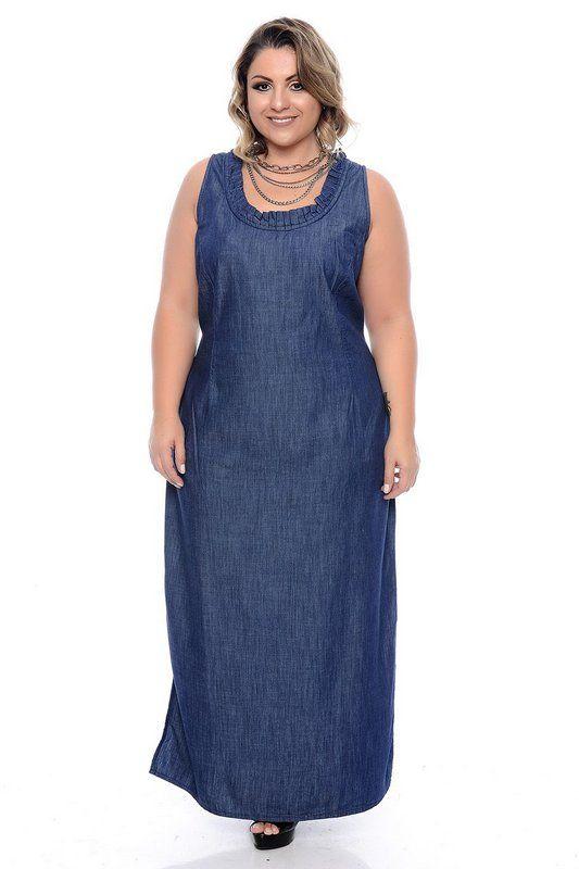 Vestido jeans tamanho 48