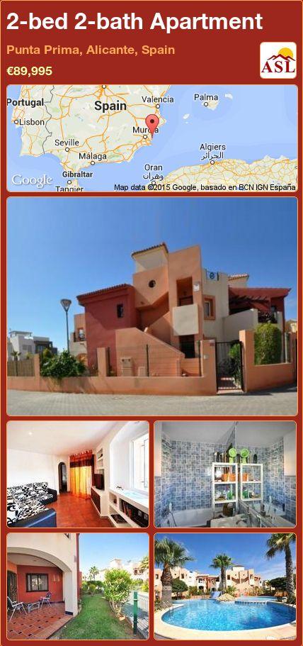 2-bed 2-bath Apartment in Punta Prima, Alicante, Spain ►€89,995 #PropertyForSaleInSpain