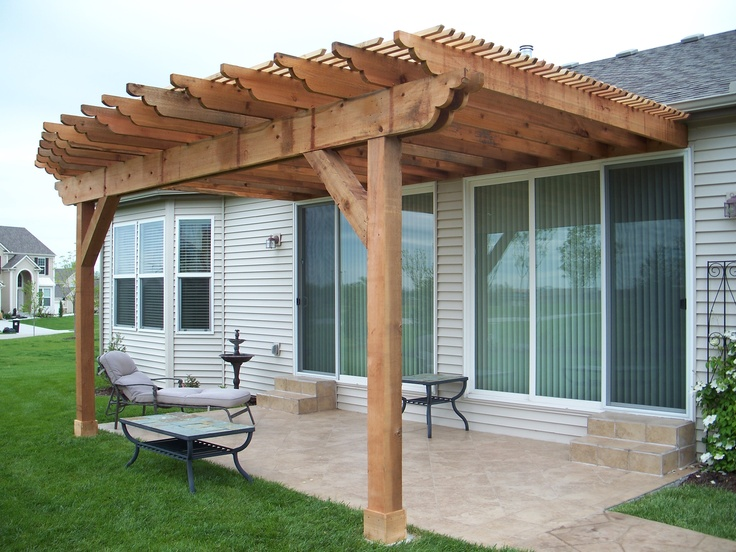 Attached convex curve pergola built by dw elite decks in for Attached gazebo