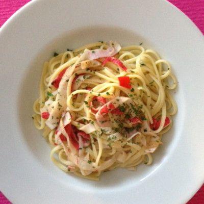 Frisse pasta met krab