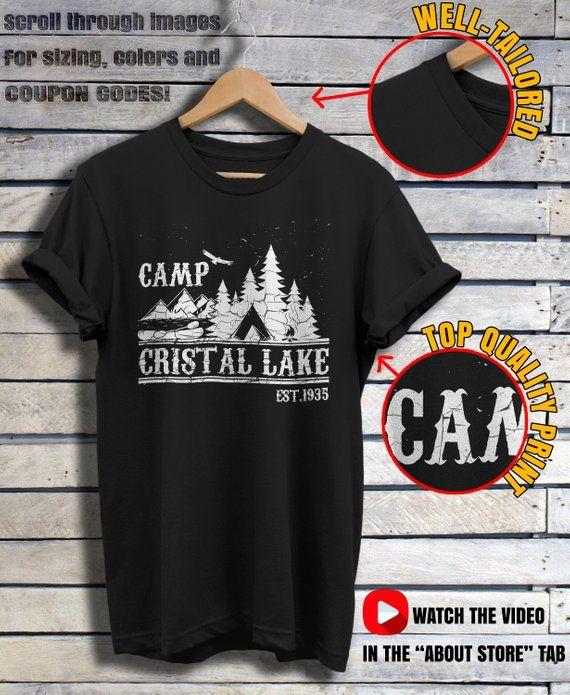af22d8e49ec8 Camp Crystal Lake Shirt Friday The 13th T-shirt Vintage Horror ...