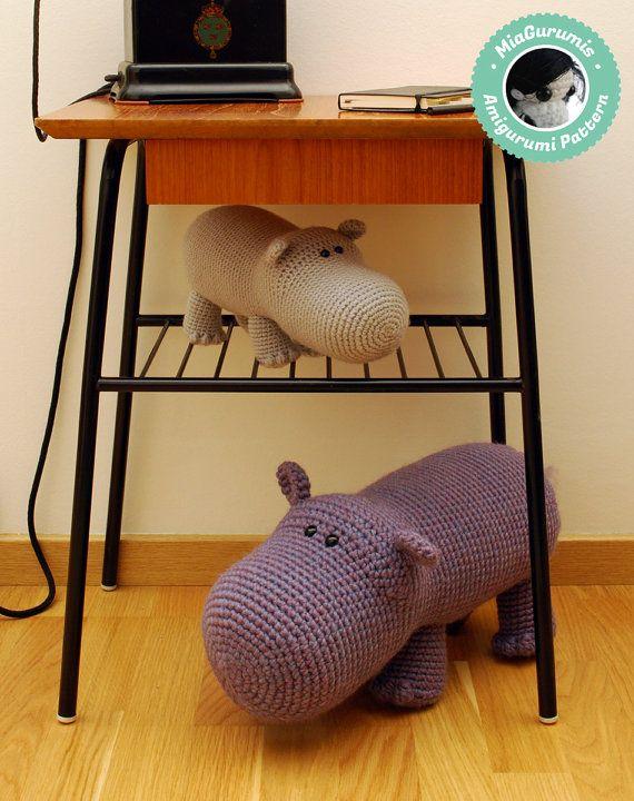 Crochet Pattern Hippo Amigurumi Pattern Amigurumi by MiaGurumis